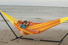 NEW Handwoven COTTON Mayan Mexican FAMILY Hammock Bed for INDOORS & OUTDOORS