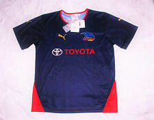 Adelaide Crows AFL Genuine PUMA Mens Navy Training Shirt Brand New With Tags