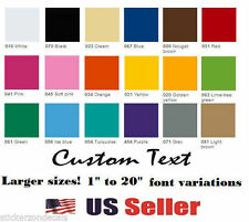 """10"""" Custom Vinyl Lettering, Text - Personalized Wall, Window, Car Sticker Decal"""