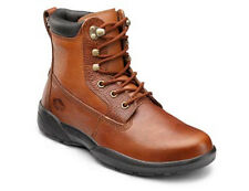 Dr Comfort  Boss Leather Diabetic Shoes Work Boots W Gel Inserts Motorcycle