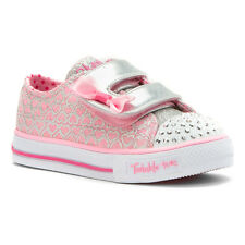 Skechers Girl's Twinkle Toes - Shuffles Glitter Pop Toddler Fashion Sneakers