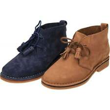 Hush Puppies Cyra Catelyn Lace Up Real Suede Leather Desert Ankle Flat Boots