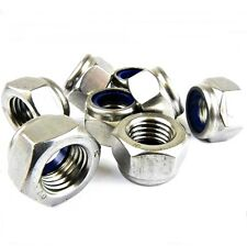 M3 STAINLESS STEEL NYLOC NUTS LOCK NUTS A4 MARINE GRADE