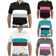 New SUB70 SubSeventy Mens Mario PolarDry® Performance Golf Polo Shirt 2 Stripe