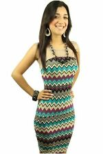 121AVENUE Trendy Mesh Two Tone Dress M Medium Women Multi-Colored Career