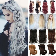 Extra New One Piece Clip In Hair Extensions Brown Blonde 3/4 Full Head Party fds