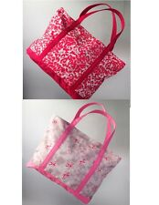SVVW Vera Wang Breast Cancer Awareness Canvas Make Up Tote Bags Super Large New