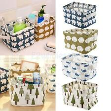 Desk Tidy Storage Box Bin Holder Makeup Organizer Container Table Case Basket