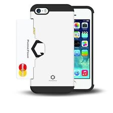 iphone 5 5S Hard Case Cover Card Holder Slot Cell Phone Protector Accessories