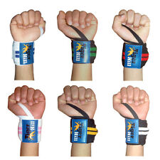 Weight Lifting Training Wrist Support Wraps Gym Cotton Bandage Straps 18 inches