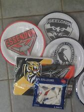 Official AFL Partyware, Richmond, Geelong, Collingwood, Sydney, Brand New
