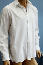 """Jaeger White Long Sleeve Cotton Shirt Size 17"""" Collar  - 50"""" inch chest"""
