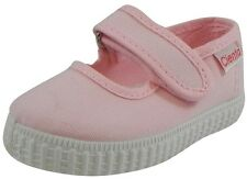 Cienta Girl's 56000 Baby Pink Canvas Strap Mary Jane Shoes