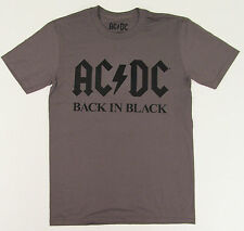 AC/DC T-shirt AC DC BACK IN BLACK Licensed Tee Adult S,M,L Charcoal Gray New