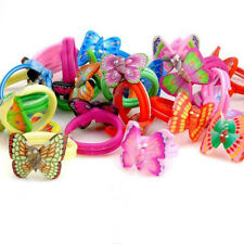 Mixed Wholesale 10 PCS Mixed Color Cute Butterfly Polymer Clay Children's Rings