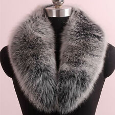 New Genuine Fox Fur Collar Attachable Real Natural Fox Scarf Winter Warm Women