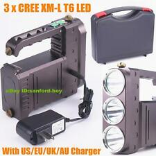 3x CREE XM-L T6 LED 5000 Lumen Rechargeable Flashlight Torch Lamp Search Light