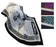 "New Irish Silk Scarf 63"" Celtic Design from Ireland"