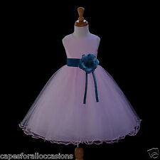 PINK HOLIDAY DRESS FLOWER GIRL WEDDING CHRISTMAS PAGEANT 12-18M 2 3T 4 6 8 10 12