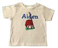 New Embroidered Personalized Toddler's Boys Short Sleeve Baseball Theme T-Shirt