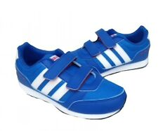 Adidas Kids Switch VS Comfort Velcro trainers Blue/White F76475 UK 10-2.5 KIDS