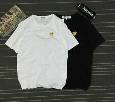2016 Men's Comme Des Garcons CDG Play Gold Embroidery Heart Tee Women's T-shirts