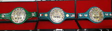 Boxing championship belts. All tittles , both mini and adult size