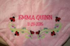 Personalized Monogrammed Baby Blanket Soft Tahoe Fleece Several Girl or Boy
