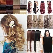 Long New One Piece Clip In Hair Extensions Brown Blonde Mega Thick Remy Hair fgp