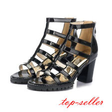 Gladiator New Women high block heel sandal hollow out boots Roman shoes open toe