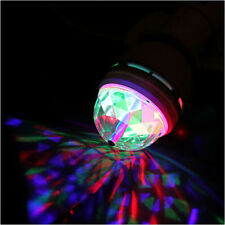 E27 3W RGB Crystal Auto Rotating Global LED Light RGB LED Party Stage Bulb Lamp