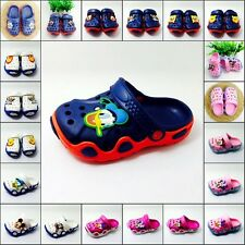 Free Shipping Children Sandals Clogs Summer Cartoon Charms Shoes For Boys/Girls