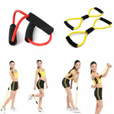 Resistance Band Yoga Pilates Abs Exercise Stretch Fitness Tube Workout Bands #JG