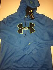 NWT Men's Under Armour Fleece Storm Big Logo Patterned Hoodie