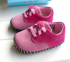 First Shoes Baby Soft Sole Step Real Leather Anti Slip Pink Girl Boy 6-12-24M
