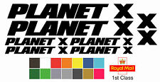 Planet X Replacement Bike Frame Vinyl Decals Stickers MTB