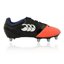 Canterbury Phoenix Club 8 Mens Orange Black Studs Rugby Boots Sports Shoes