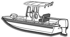 SUN-DURA BOAT COVER FOR BAY STYLE CENTER CONSOLE FISHING BOAT WITH T-TOP