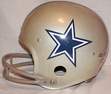 Vintage DALLAS COWBOYS 70s 80s NFL THROWBACK RAWLINGS Football Helmet double Bar