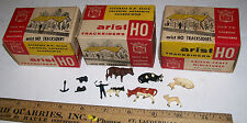 Vintage Artist HO Tracksider Train Display Toy Wagons Horses People w/OB GERMANY