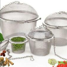 Stainless Steel Ball Tea Spice Strainer Infuser Mesh Filter Loose Leaf 4 Sizes