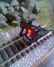 HORNBY 00 MODEL DCC TRAIN TRACK  BUFFER STOP WITH WIRELESS RED 12VOLTS LED