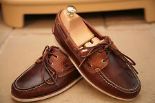 Timberland Mens Classic Brown Leather Boat/Deck Shoes UK 6