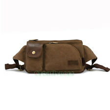 Men Canvas Shoulder Belt Fanny Pack Waist Sling Chest Sports Casual Bag Pouch