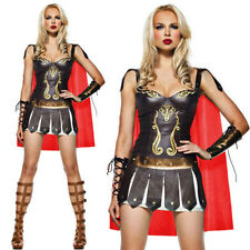 Medieval Gladiator Warrior Queen Costume Roman Spartan Xena Princess Fancy Dress