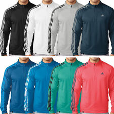 Adidas Golf 2016 Mens 3-Stripes 1/4 Zip Fleece Pullover Jacket