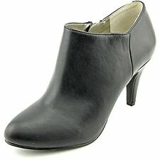 Style & Co Shaie Womens Black Faux Leather Booties Shoes, Black