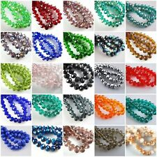 50/80pcs Rondelle Crystal Glass Loose Spacer Beads Jewelry Making Findings