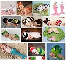 Cute Newborn Baby Girl/Boy Crochet Knit Clothes Photo Photography Prop Outfit