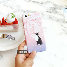 Romantic Adorable Pink Cherry Tree Kitty Polish Hard Case For iPhone 6 6s 6sPlus